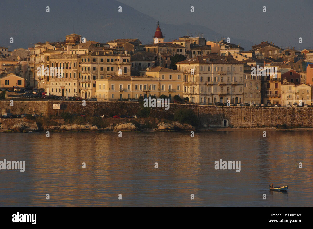 Greece. Corfu (Kerkyra). Seafront. Ionian Islands. - Stock Image