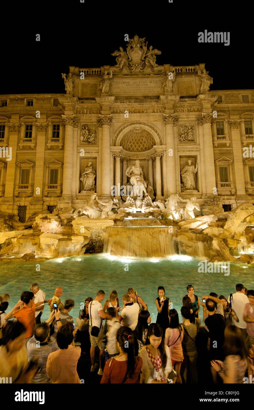 Trevi Fountain . Rome . Italy - Stock Image