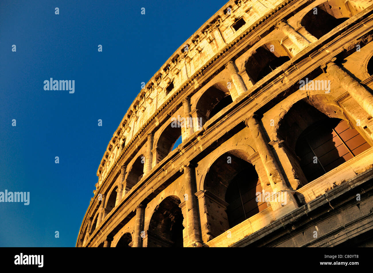 Colosseum, Rome, Italy, Europe - close up detail - Stock Image