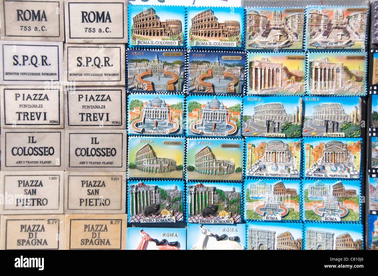 Souvenirs for sale, Rome, Lazio, Italy, Europe - Stock Image