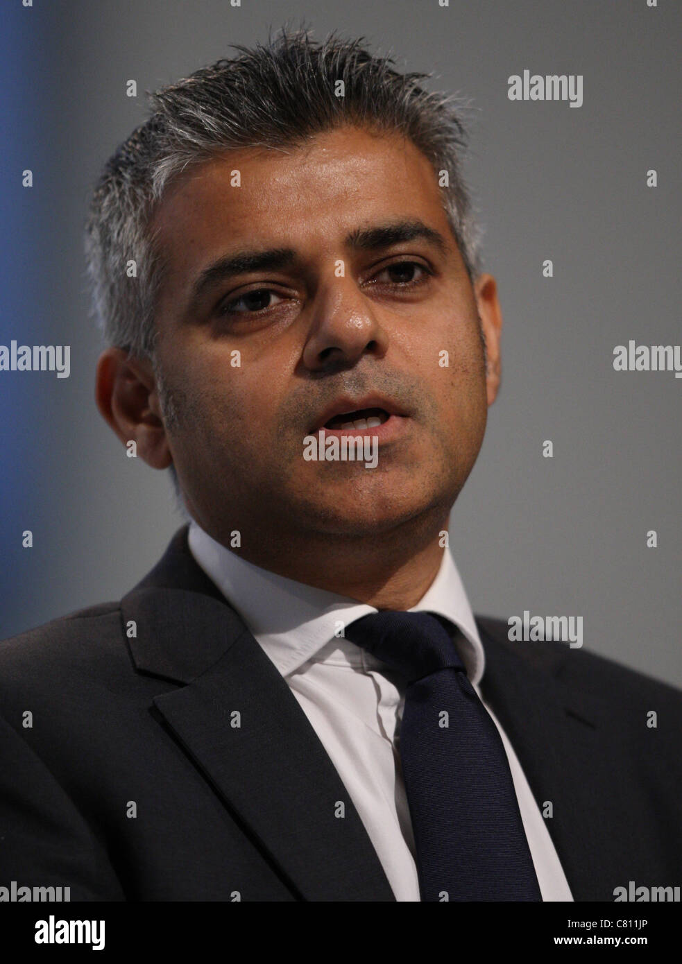 SADIQ KHAN MP SHADOW JUSTICE SECREATRY 28 September 2011 THE AAC LIVERPOOL ENGLAND - Stock Image