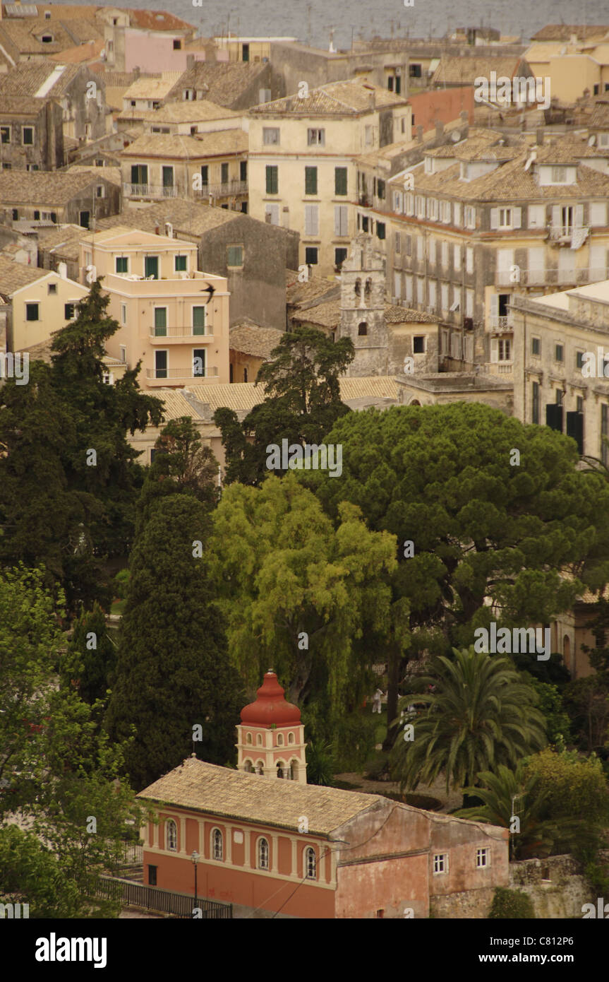 Greece. Corfu (Kerkyra). View of the city. Ionian Islands. - Stock Image