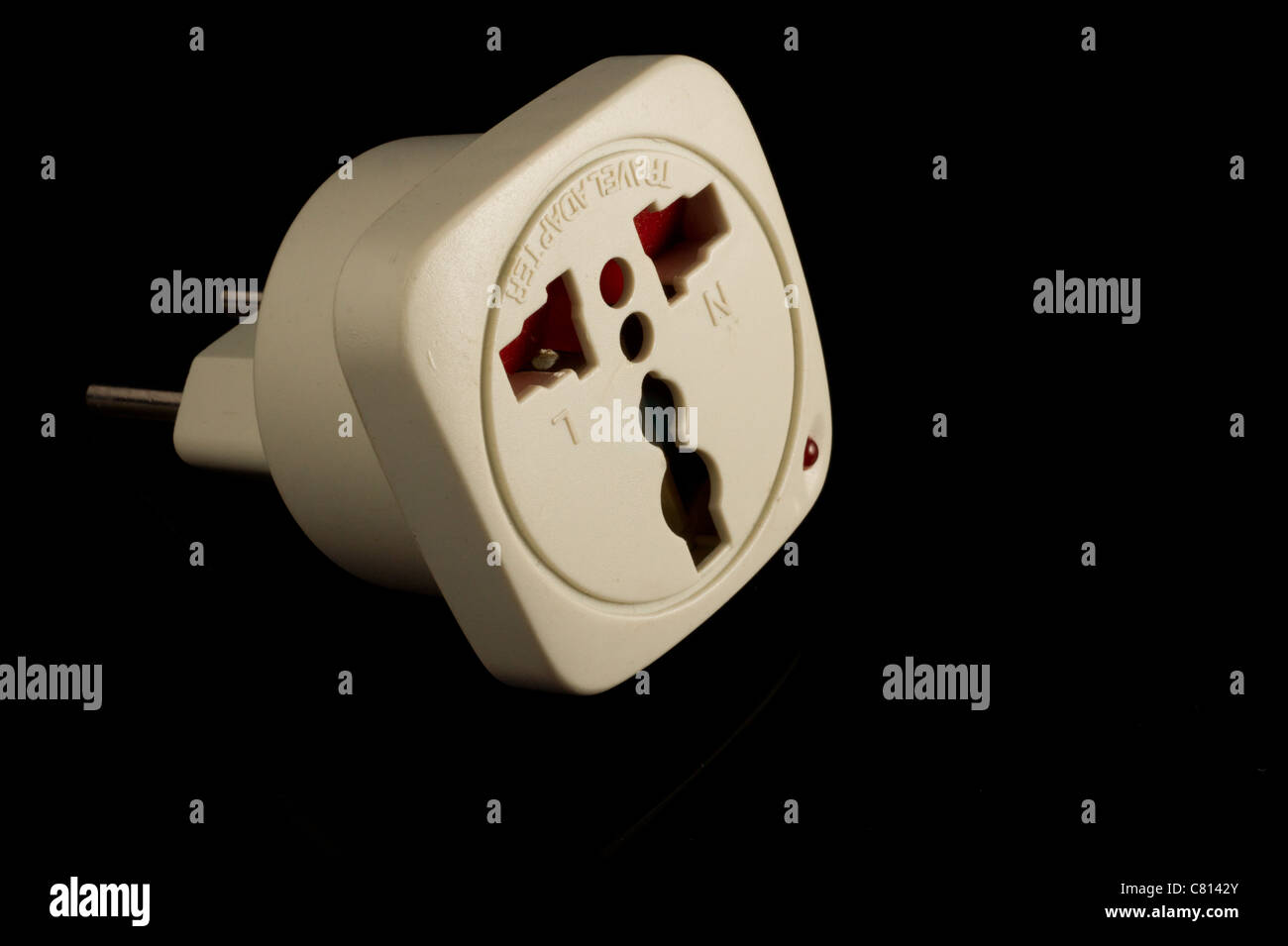Electrical converter for different kinds of electrical sockets Stock Photo