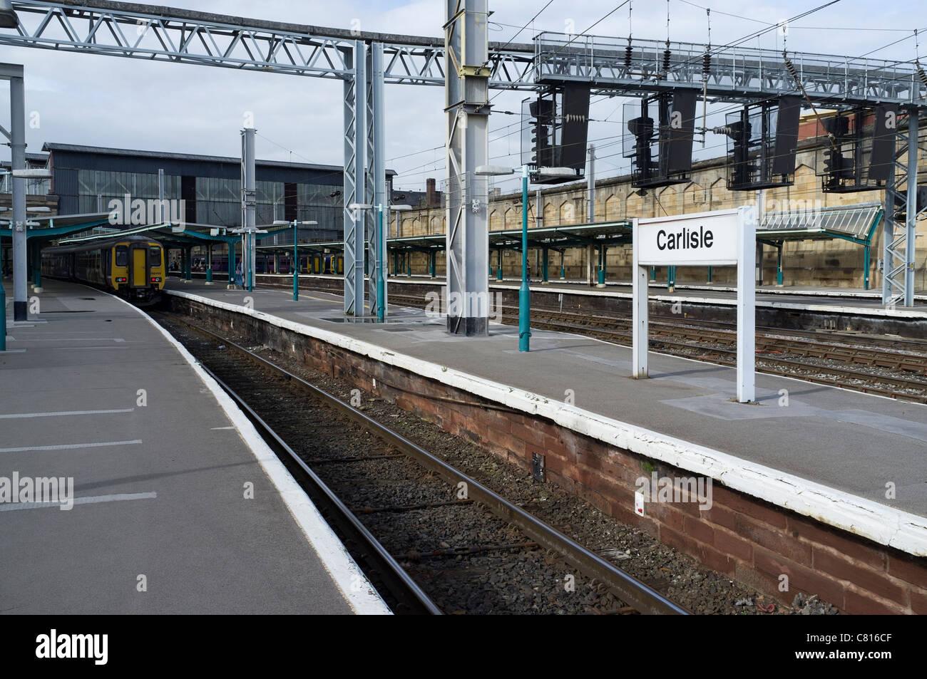 Carlisle Railway Station - Stock Image