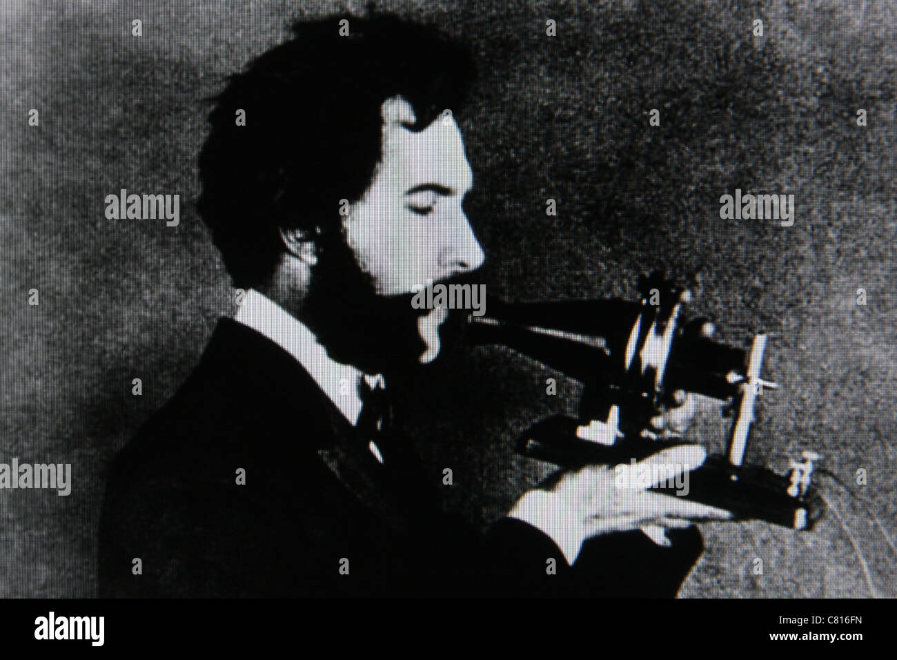 Alexander Graham Bell phone inventor - Stock Image