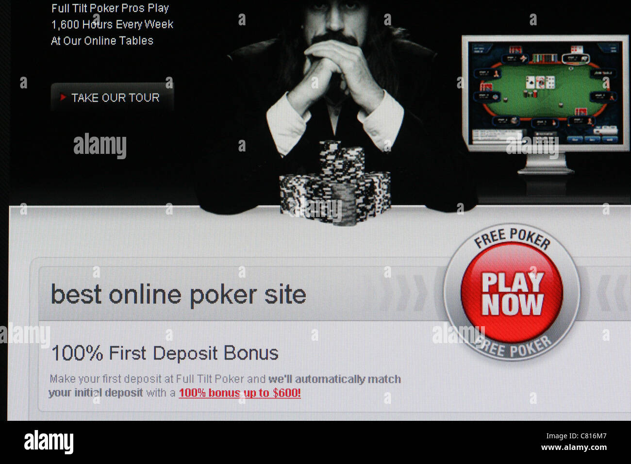 online poker gambling website - Stock Image
