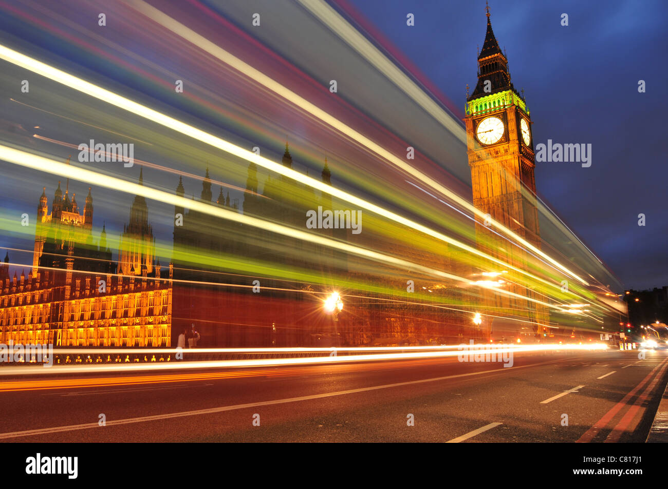 London by night - Stock Image