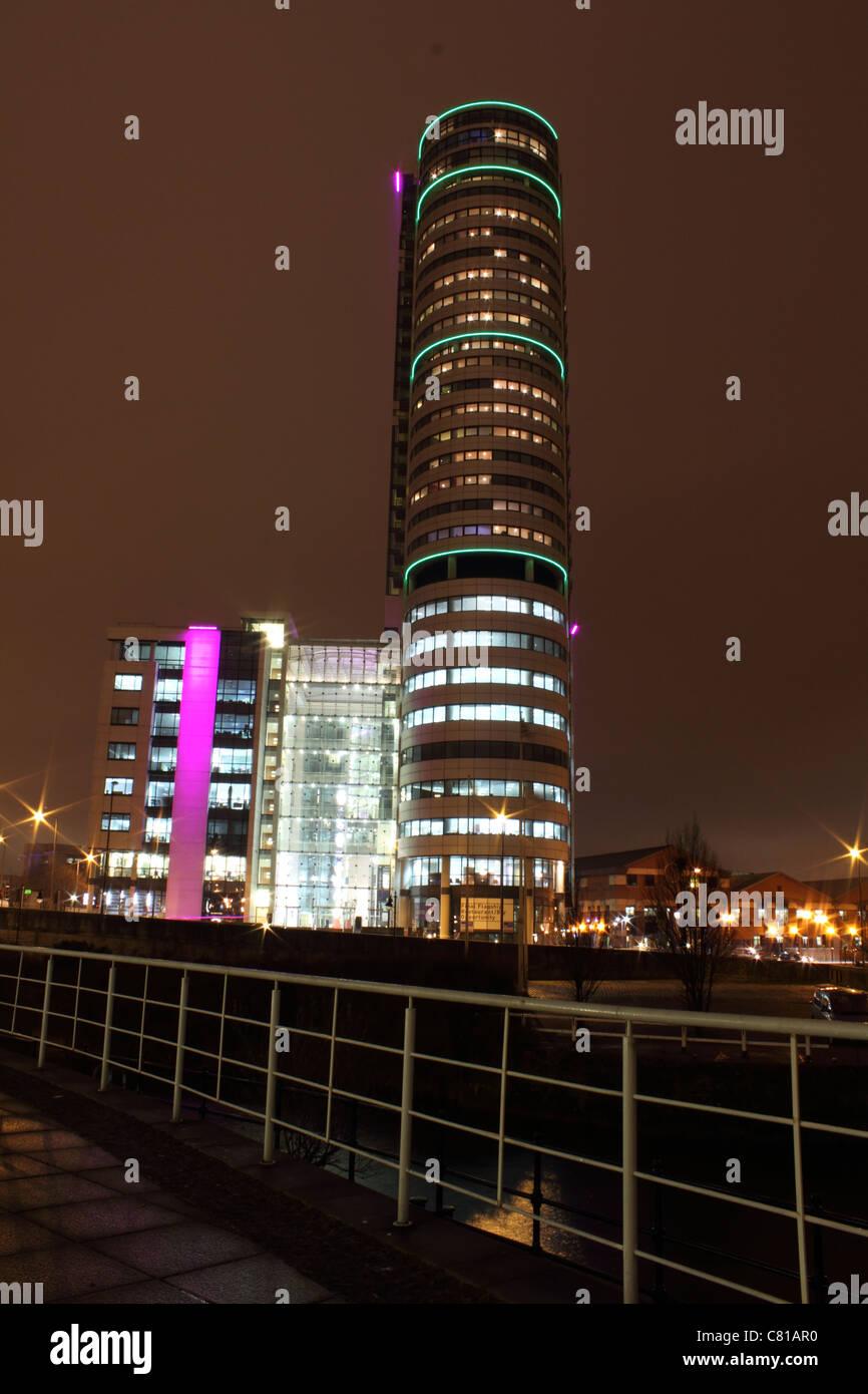 Bridgewater Tower in Leeds city Center - Stock Image