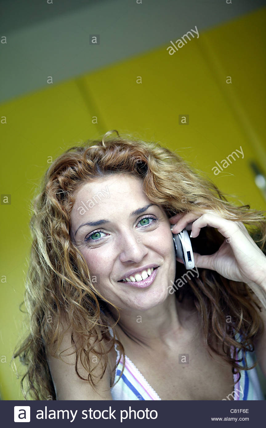 Woman with mobile phone - Stock Image