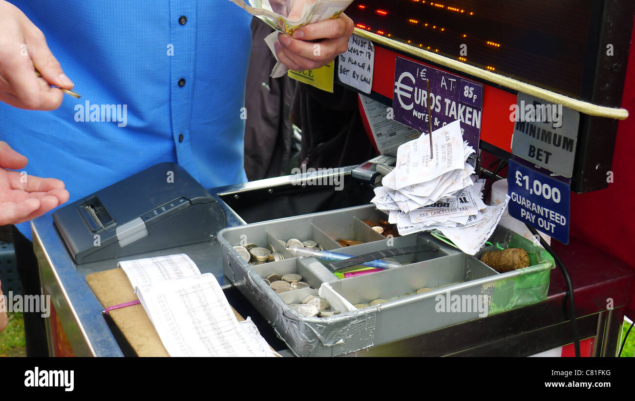 Taking Bets at Chester Races - Stock Image
