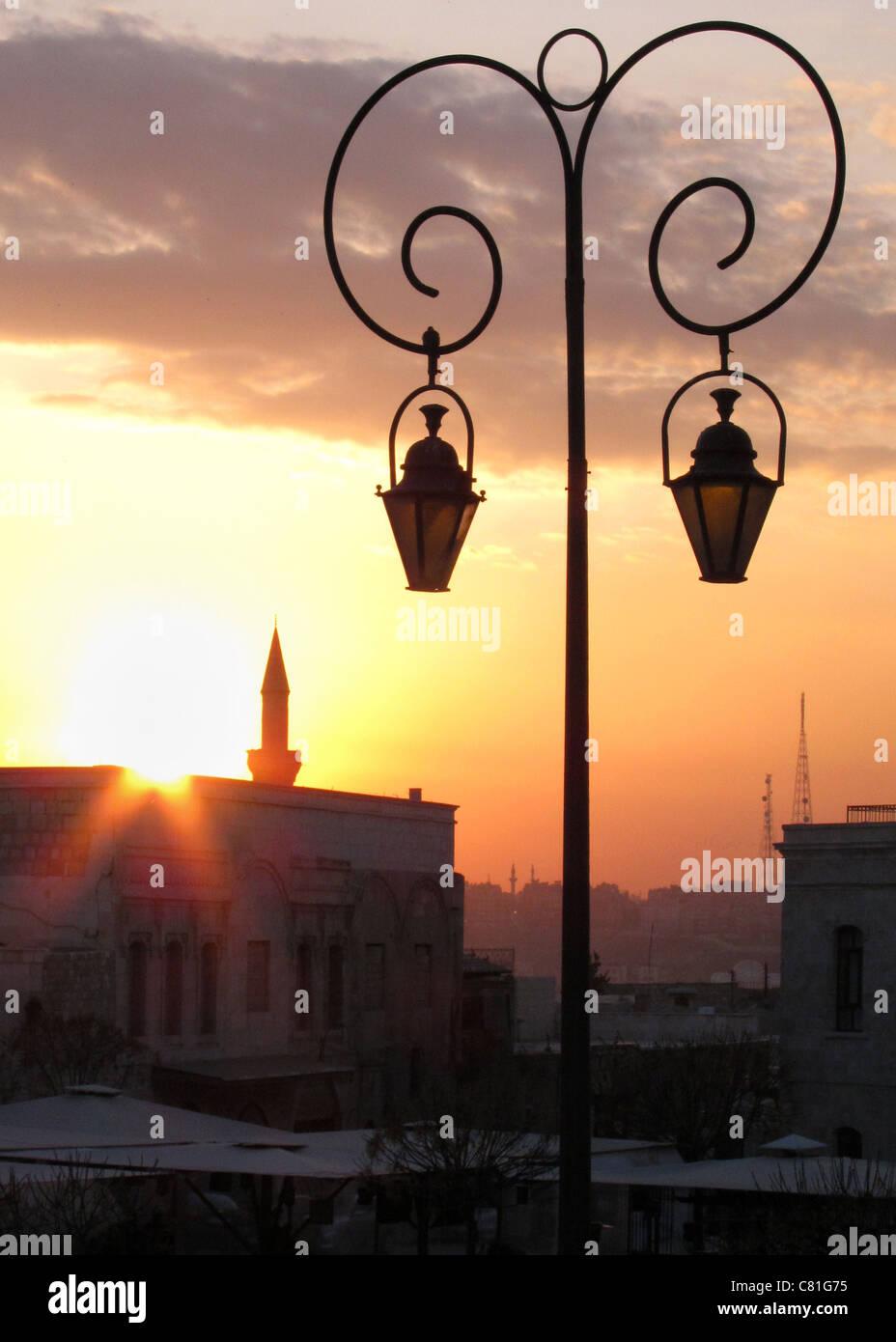 Aleppo, Syria, Syrien oldtown Altstadt Sonnenuntergang sunset - Stock Image