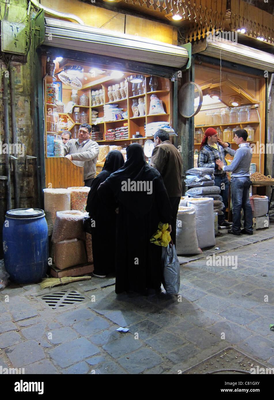 Aleppo, Syria, Syrien Souk Bazar, Markt - Stock Image