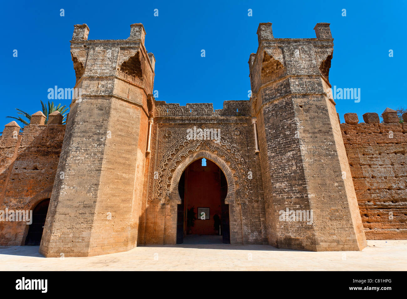 Rabat, Entrance of Chellah Necropolis - Stock Image