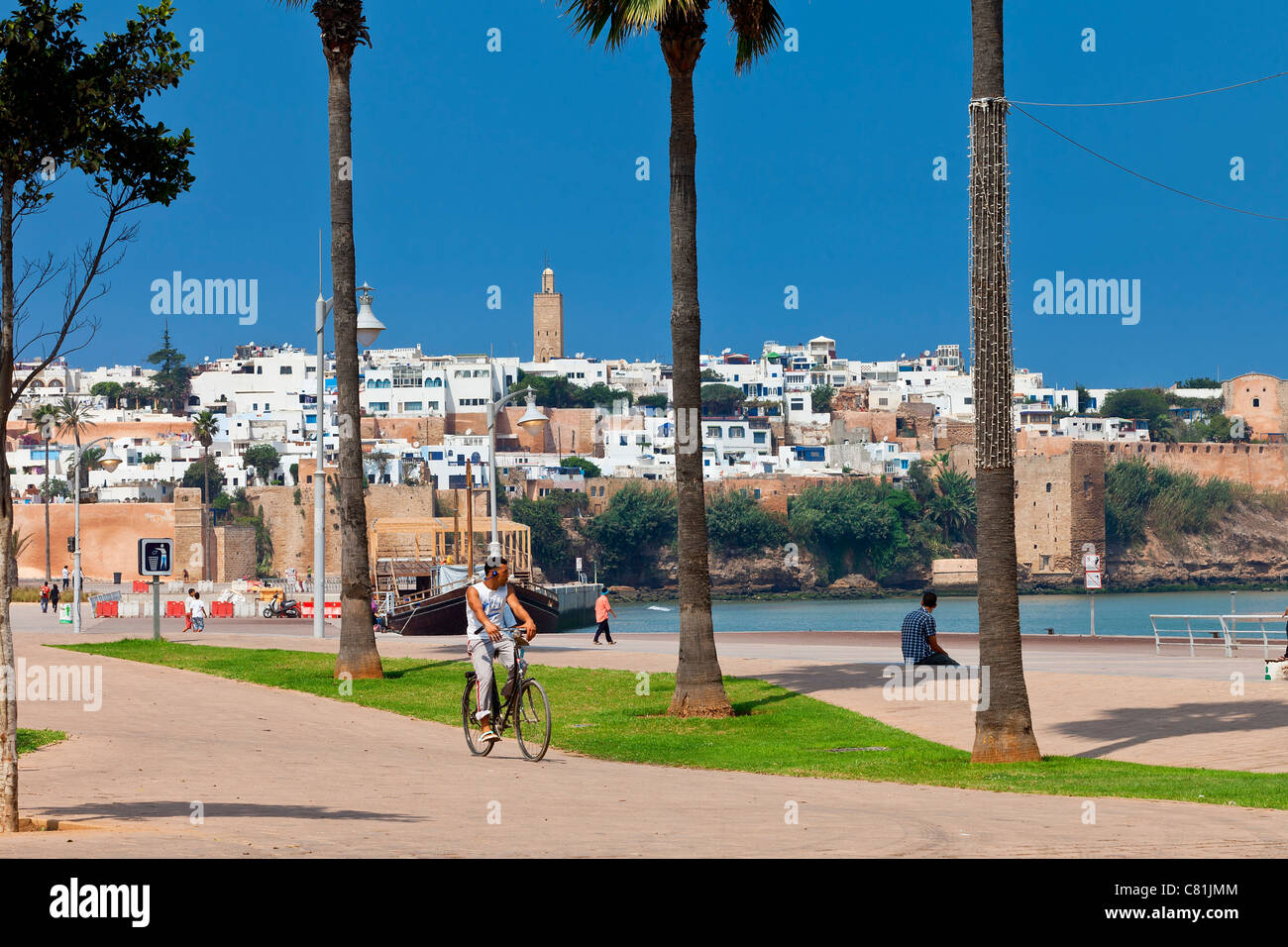 Morocco, Rabat, Riverbank of Bou Regreg River - Stock Image