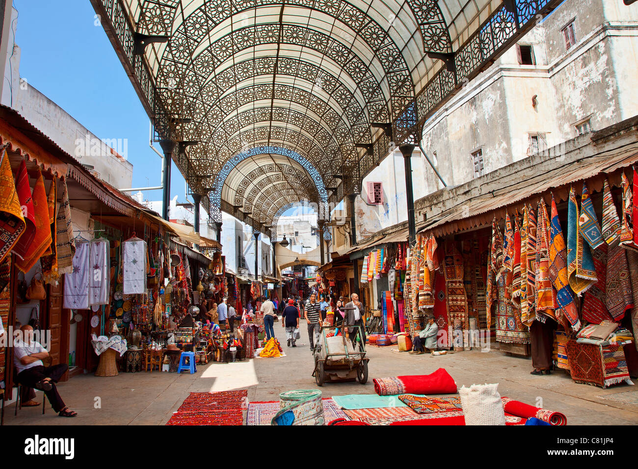 Rabat, Rue des Consuls in the Medina - Stock Image
