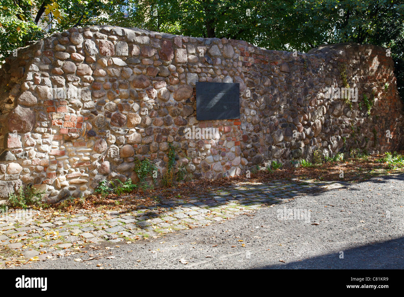 Remains of the city wall from the middle ages, Berlin, Germany - Stock Image