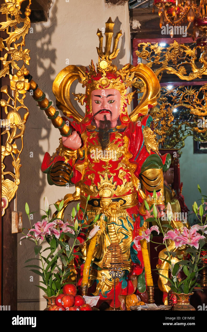 Vietnam, Hanoi, One Pillar Pagoda Temple, Temple Guardian Statue Stock Photo