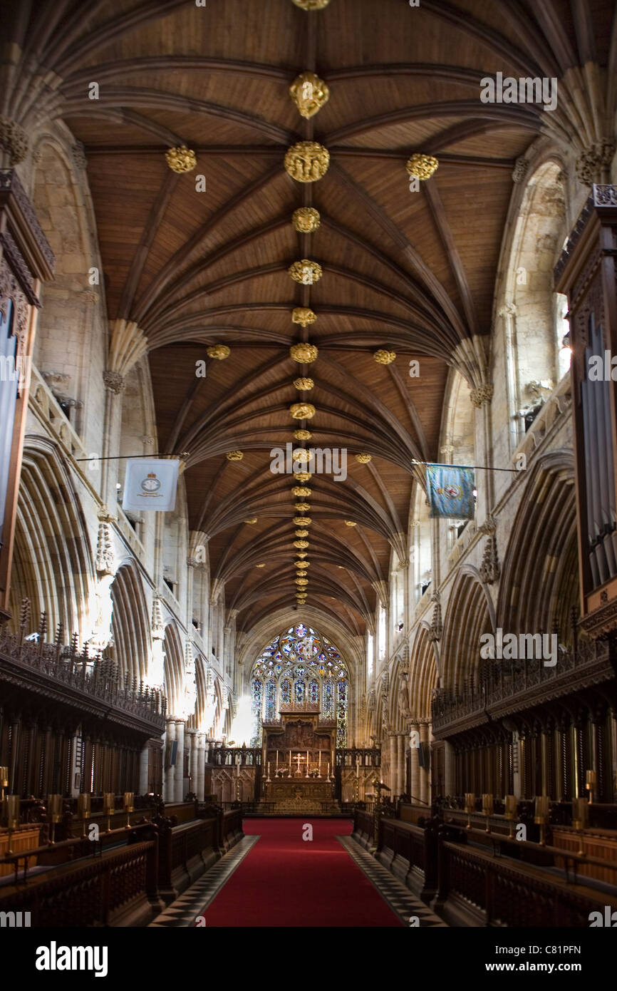 England Yorkshire Selby abbey interior - Stock Image