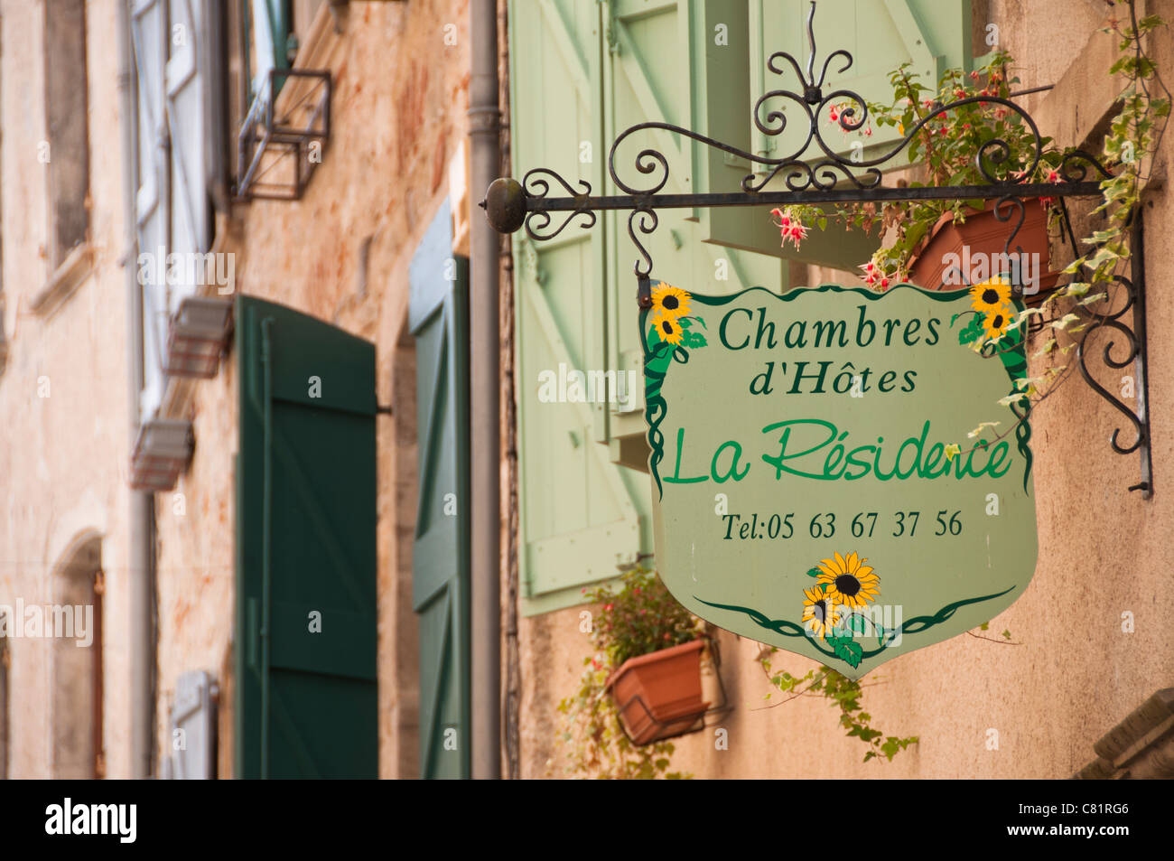 Chambres Dhotes Sign Stock Photos Chambres Dhotes Sign Stock