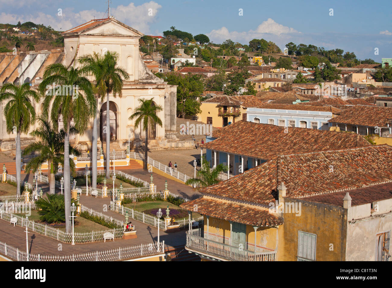 TRINIDAD: PLAZA MAYOR Stock Photo