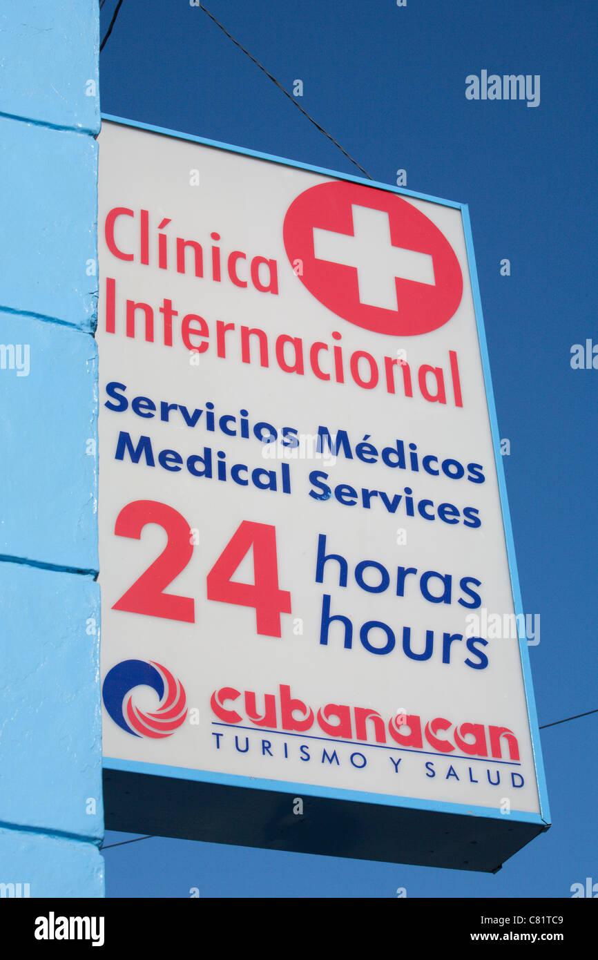 TRINIDAD: CUBANACAN 24 HOUR MEDICAL SERVICES CLINIC - Stock Image