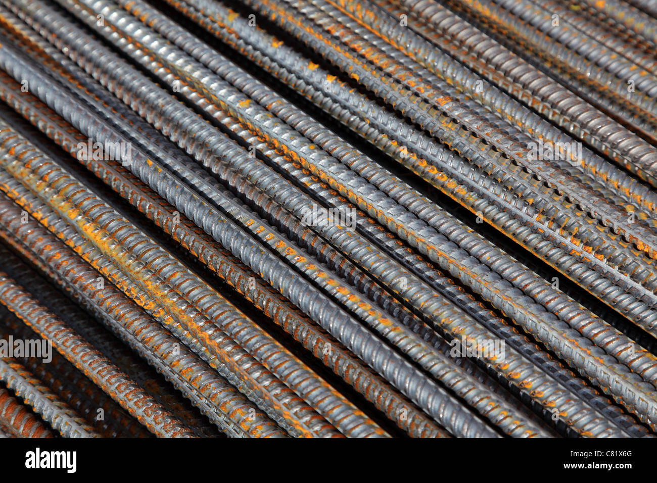 reinforcement bar - Stock Image