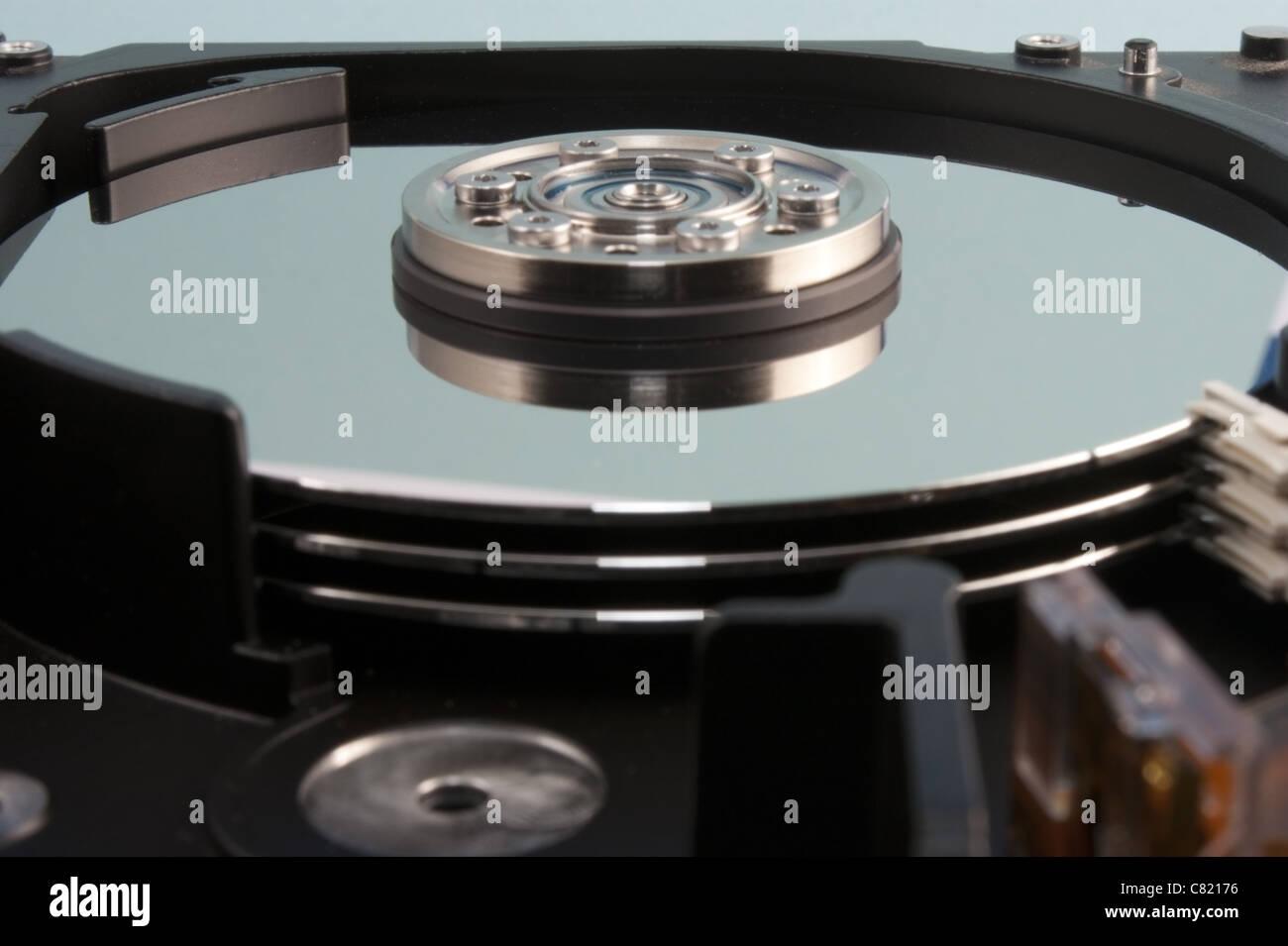 Computer hard drive platters - Stock Image