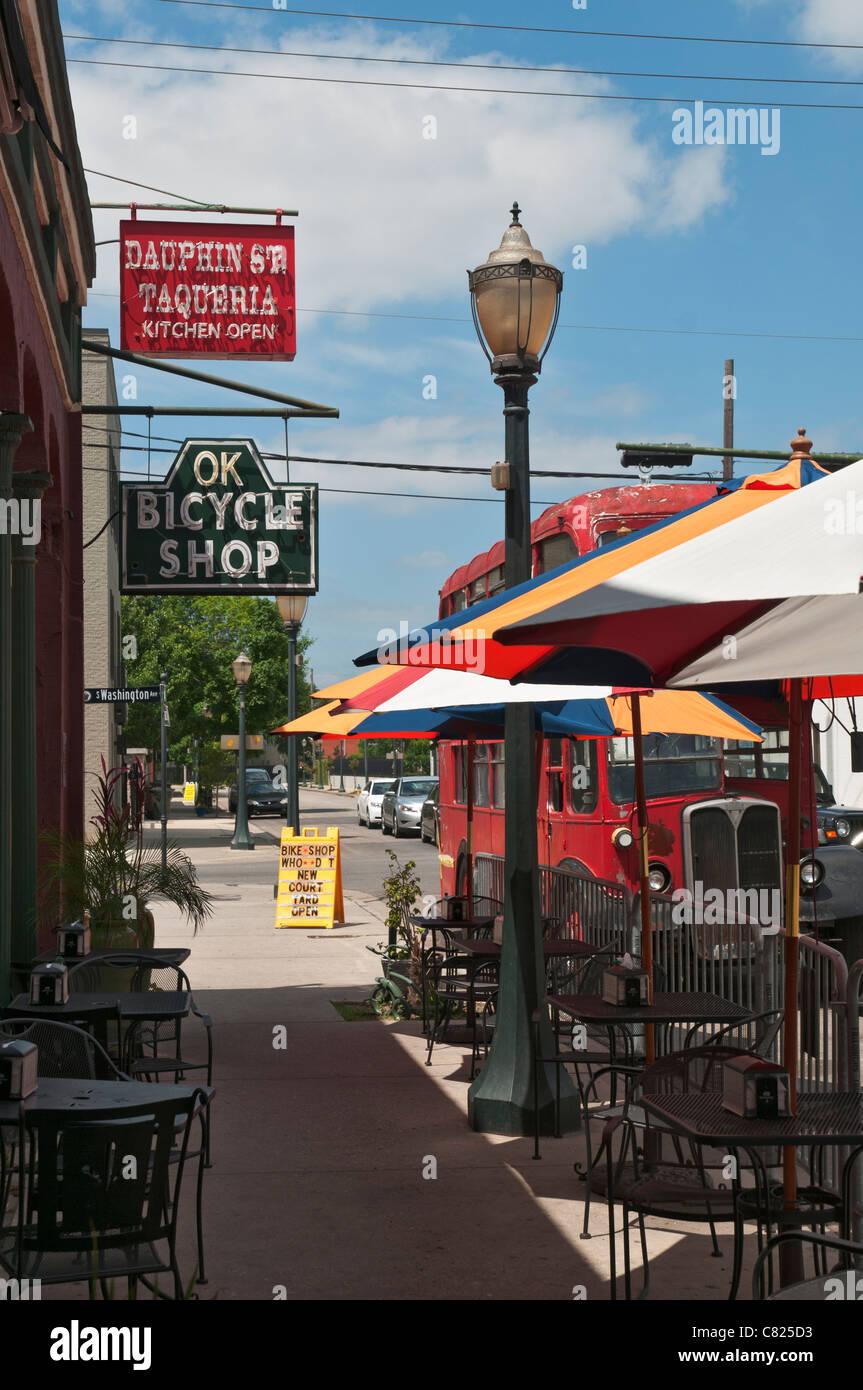 Alabama Mobile Historic Downtown Dauphin Street Sidewalk Cafe
