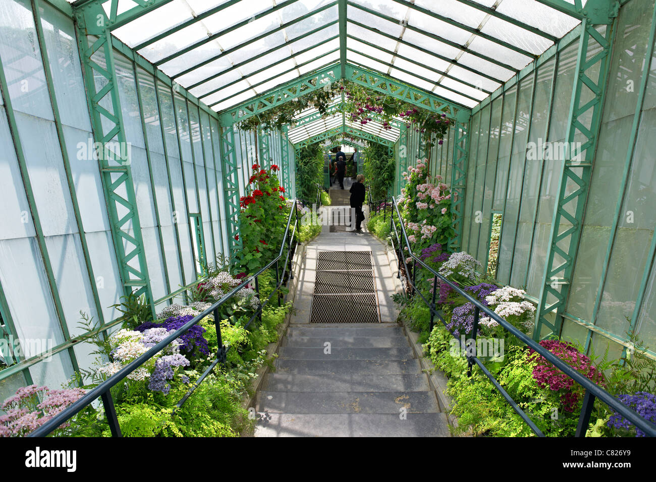 Royal Greenhouses of Laeken, Royal Castle of Laeken, Brussels, Belgium, Europe - Stock Image