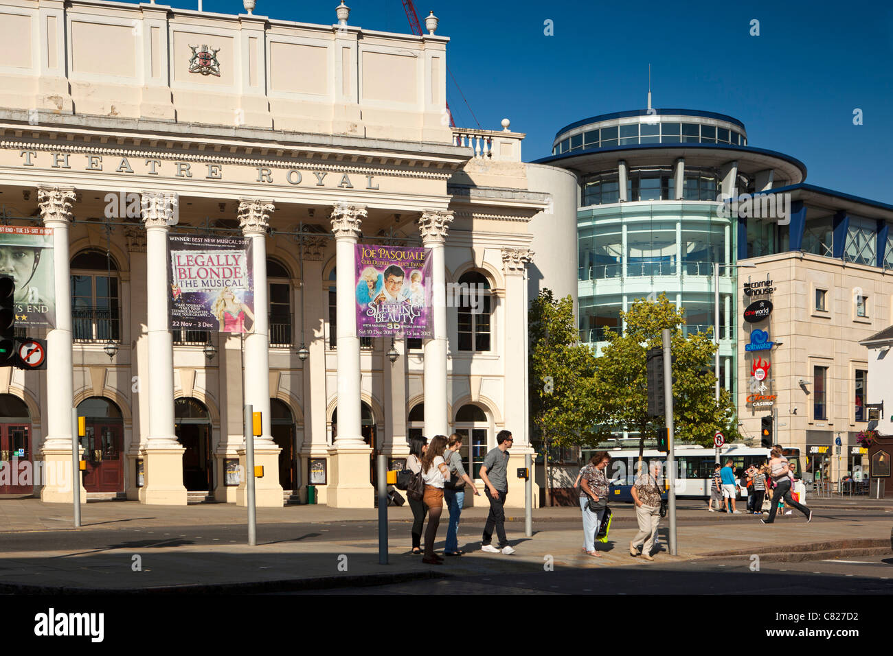 UK, Nottinghamshire, Nottingham, Upper Parliament Street, Theatre Royal and Corner House entertainment complex - Stock Image