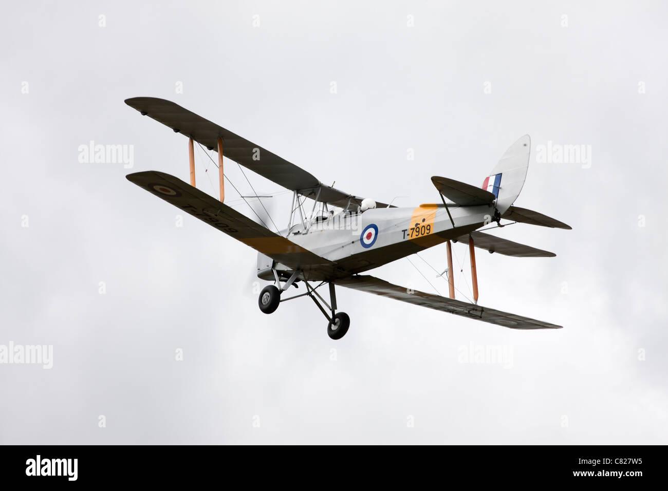 De Havilland DH82A Tiger Moth T7909 G-ANON in flight - Stock Image