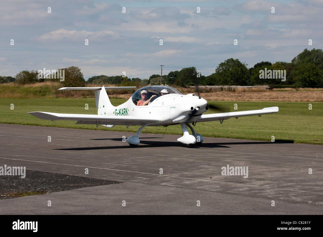 DynAero MCR-01 Club G-KARK taxiing at Breighton Airfield - Stock Image