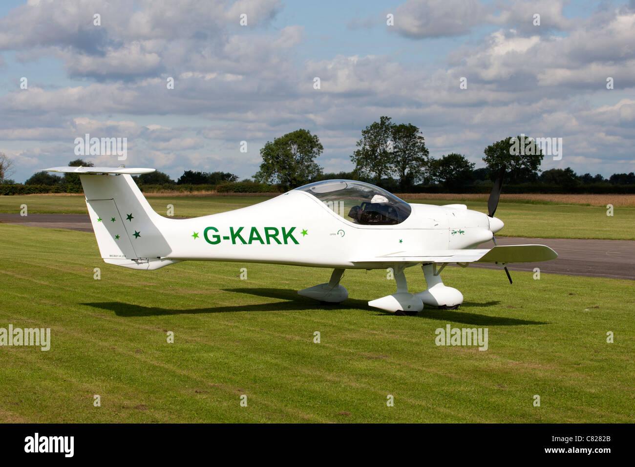DynAero MCR-01 Club G-KARK parked at Breighton Airfield - Stock Image