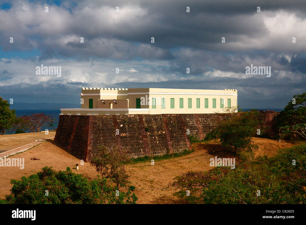 The Conde Mirasol fort of Vieques, Puerto Rico. Stock Photo