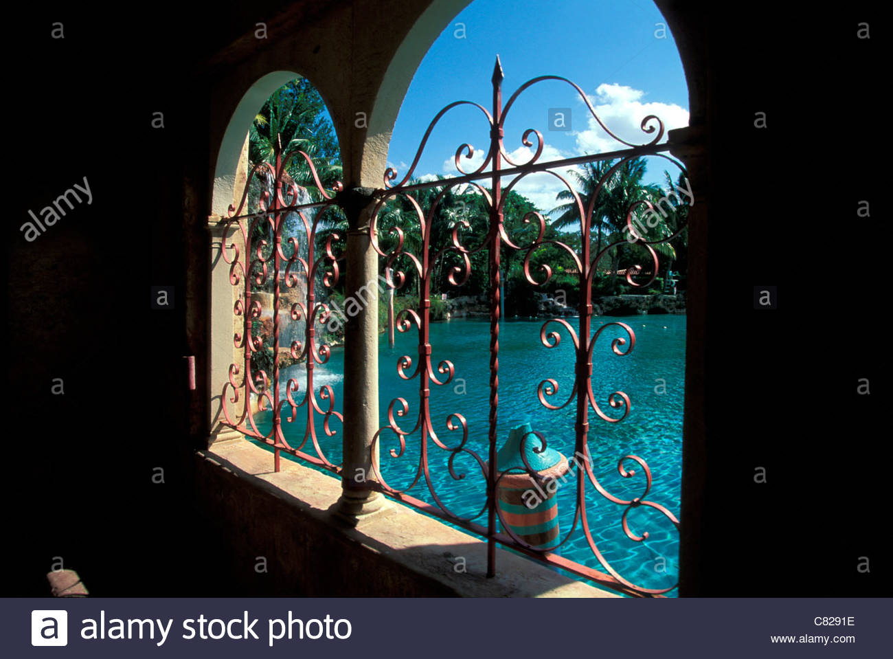 Florida, Miami, Coral Gables. Venetian pool - Stock Image