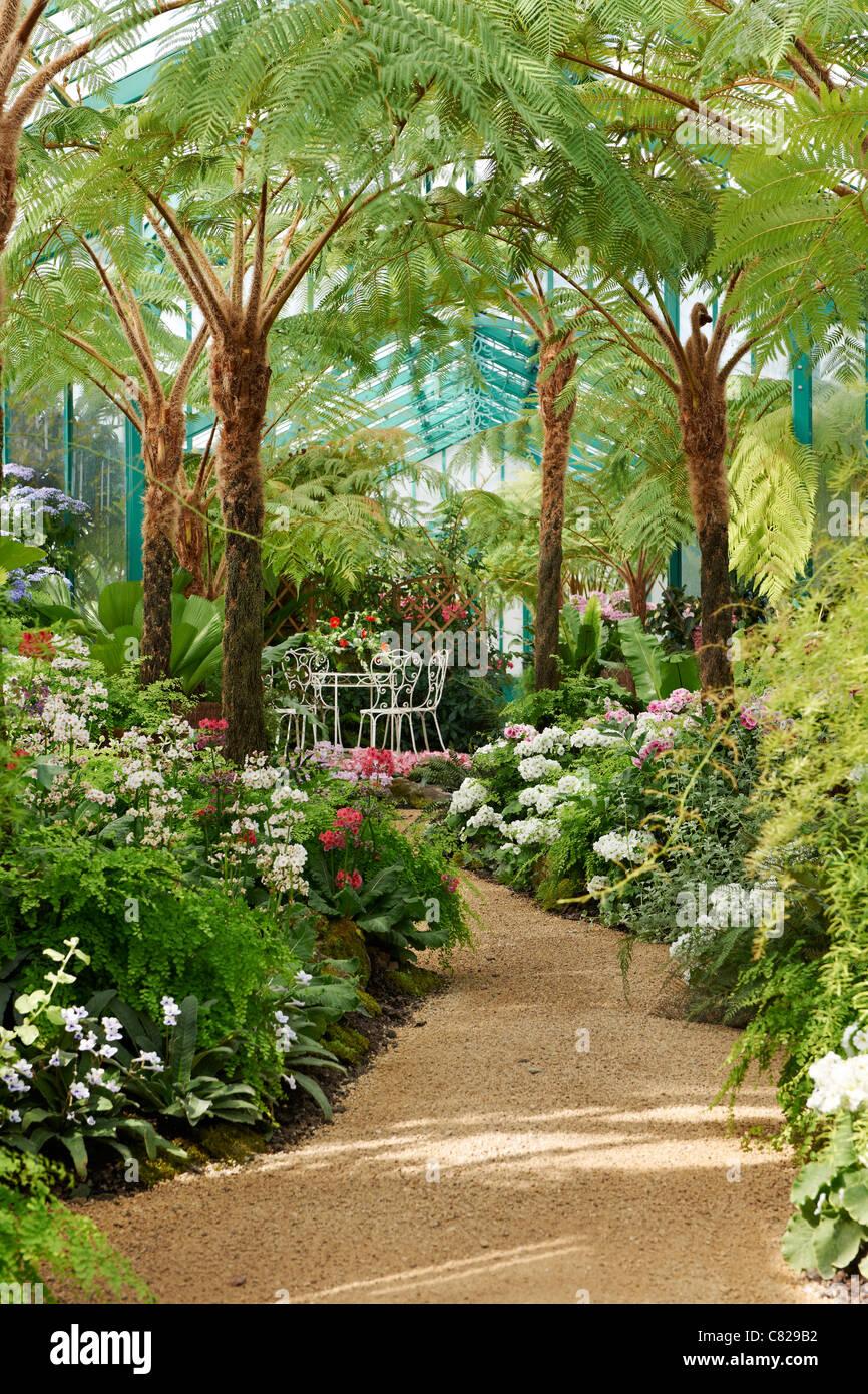 Royal Greenhouses of Laeken, Royal Castle of Laeken, Brussels, Belgium, Europe - Stock Image