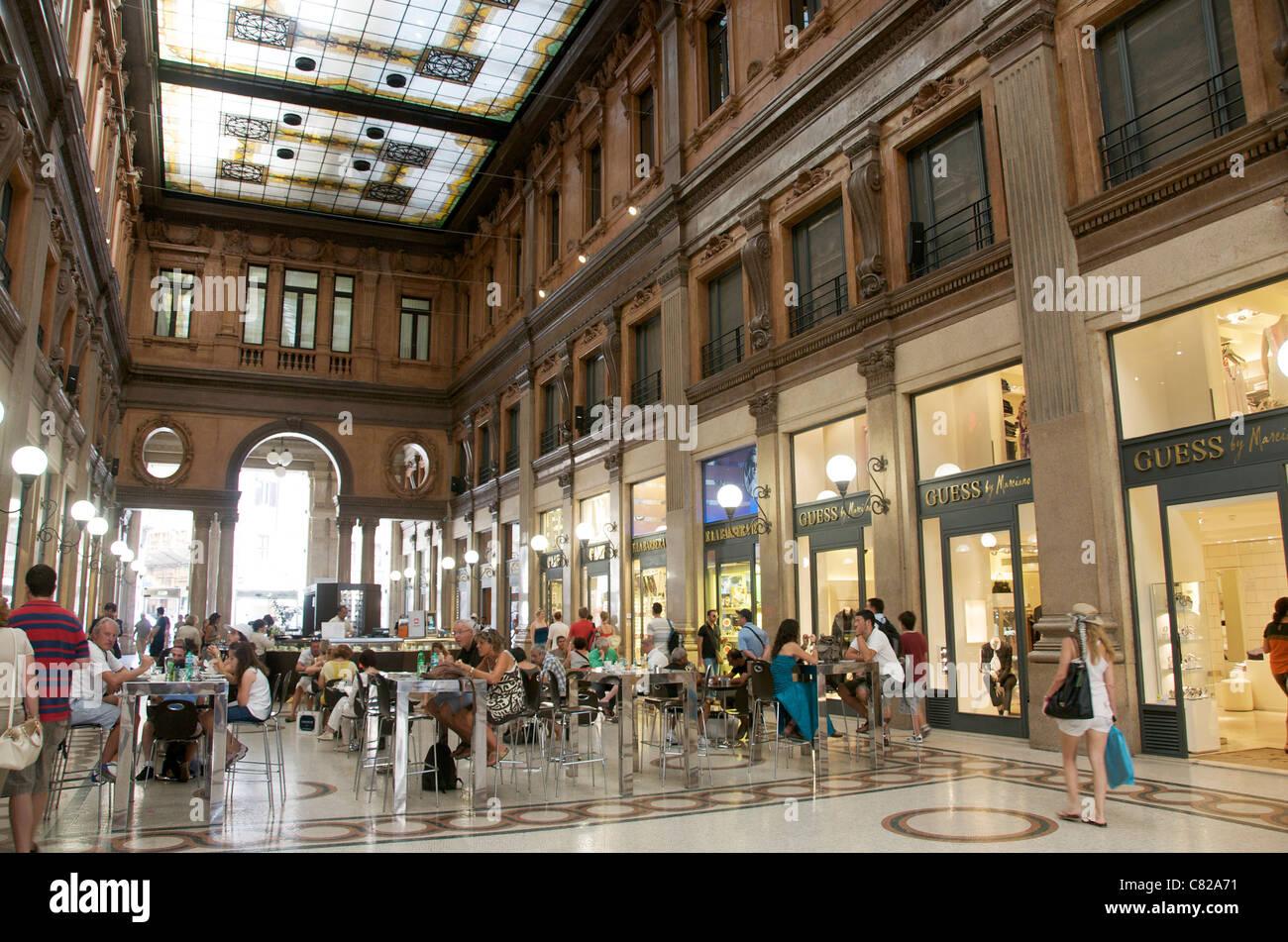 Shopping arcade, Rome, Italy, Europe - Stock Image