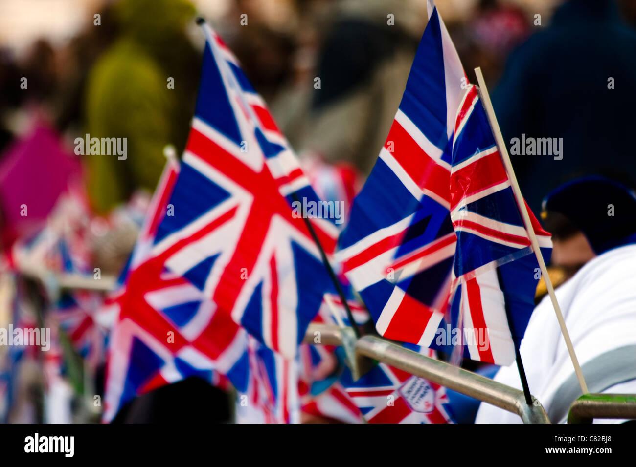 Union Jack Flags - Royal Wedding - UK - Stock Image