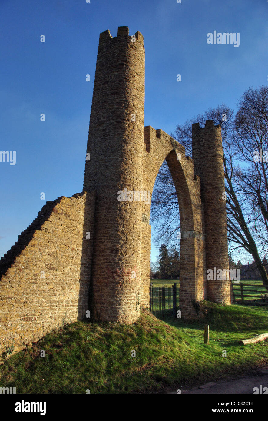 The Spectacle, a folly on the Boughton Park Estate, Northamptonshire, UK - Stock Image
