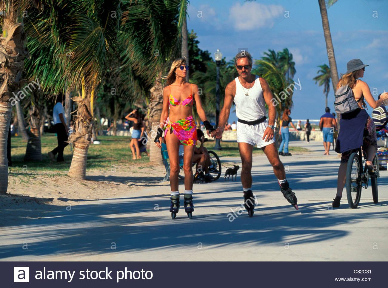 Usa, Florida, Miami Beach, South Beach, Ocean Drive -6219