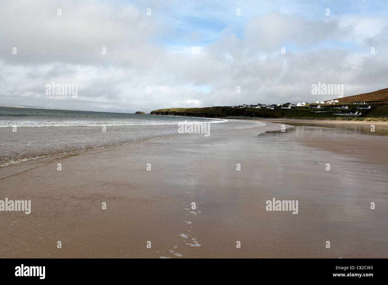 The Beach at Dugort on Achill Island in County Mayo called Golden Strand - Stock Image
