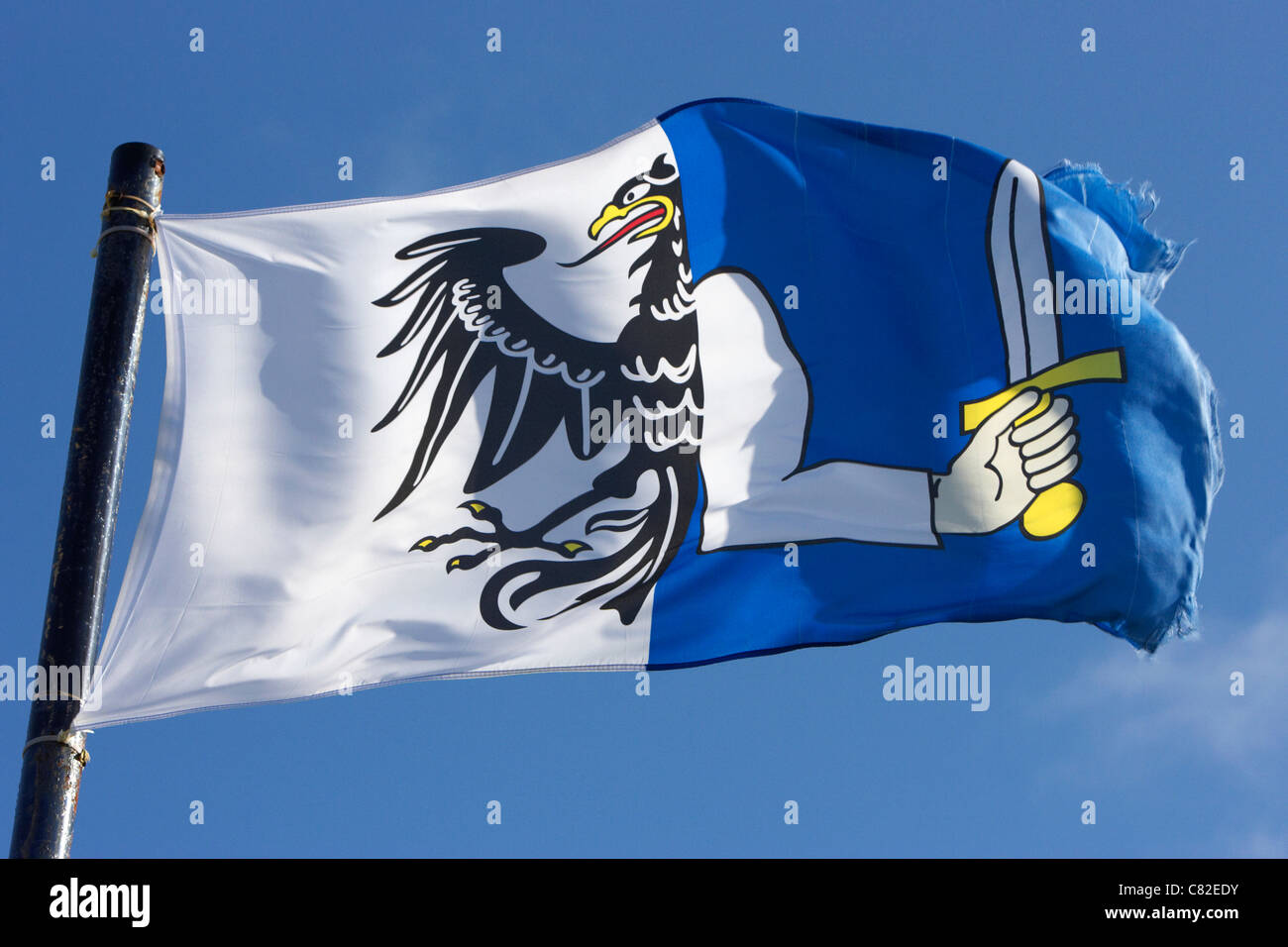 connacht provincial flag flying in republic of ireland - Stock Image