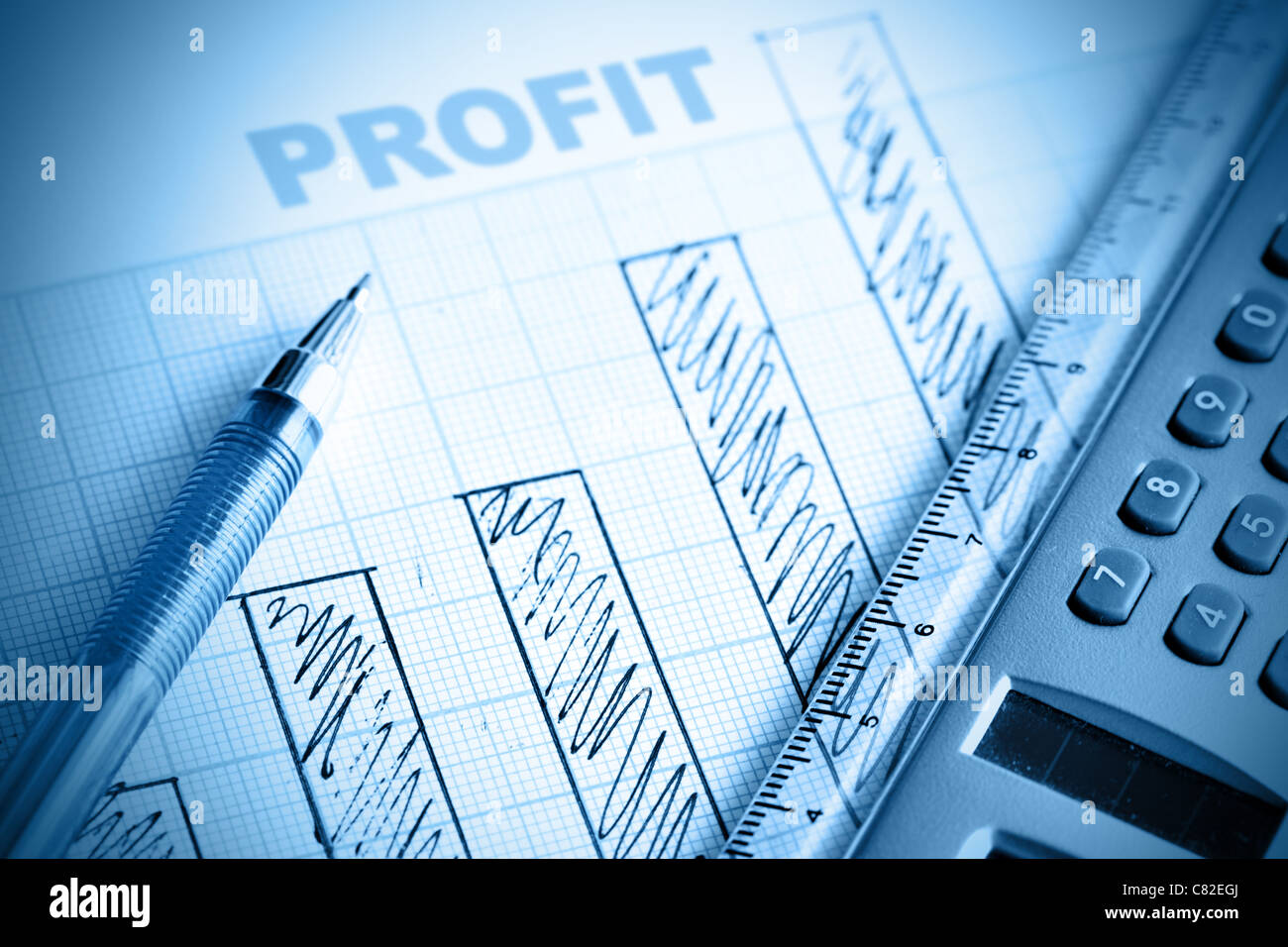 Profit bar chart pen and calculator shallow dof stock photo profit bar chart pen and calculator shallow dof ccuart Gallery