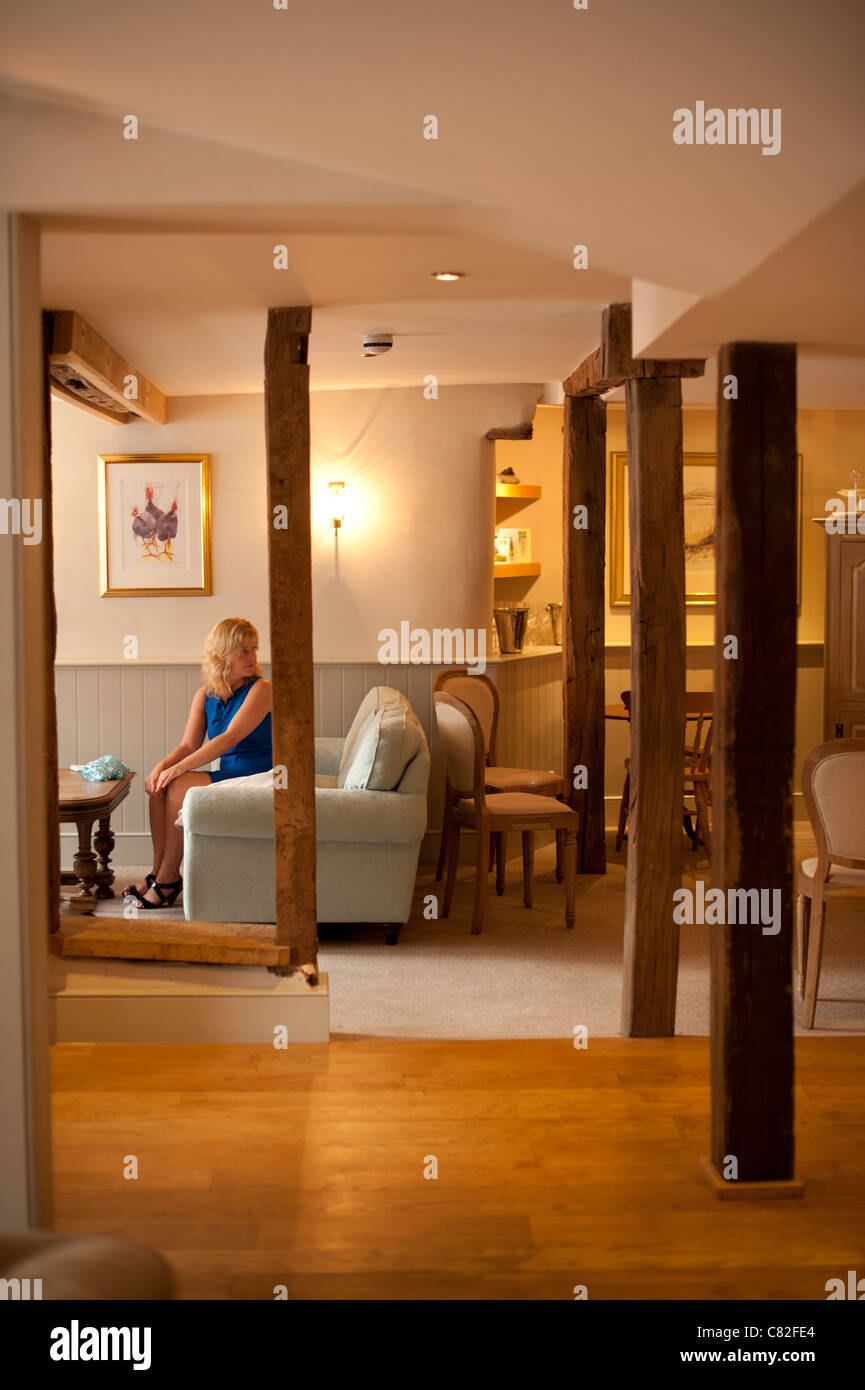 The Checkers restaurant in Montgomery Powys mid wales, awarded one star by the Michelin guide on 7 Oct 2011 Stock Photo