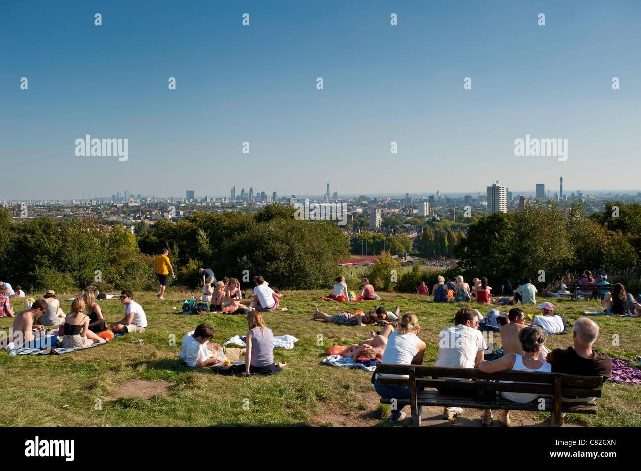 Hampstead Heath, NW3, London, United Kingdom - Stock Image
