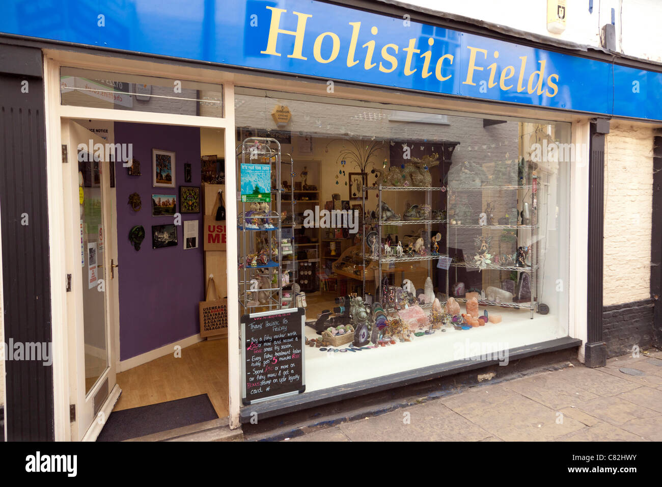 Holistic therapies shop offering a wide variety of treatments in UK - Stock Image