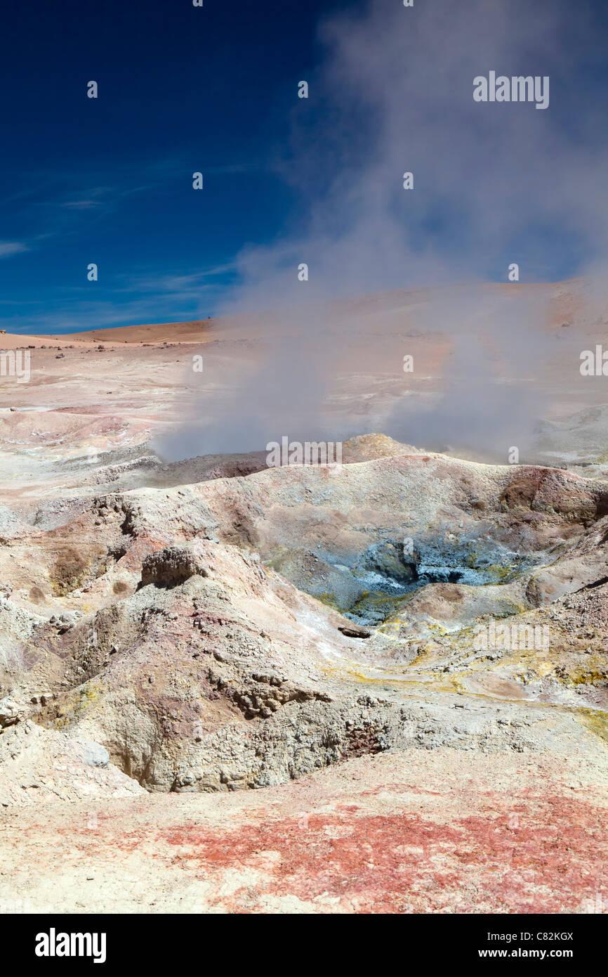 Sol de Manana geysers (Morning Sun), Bolivian Altiplano - Stock Image
