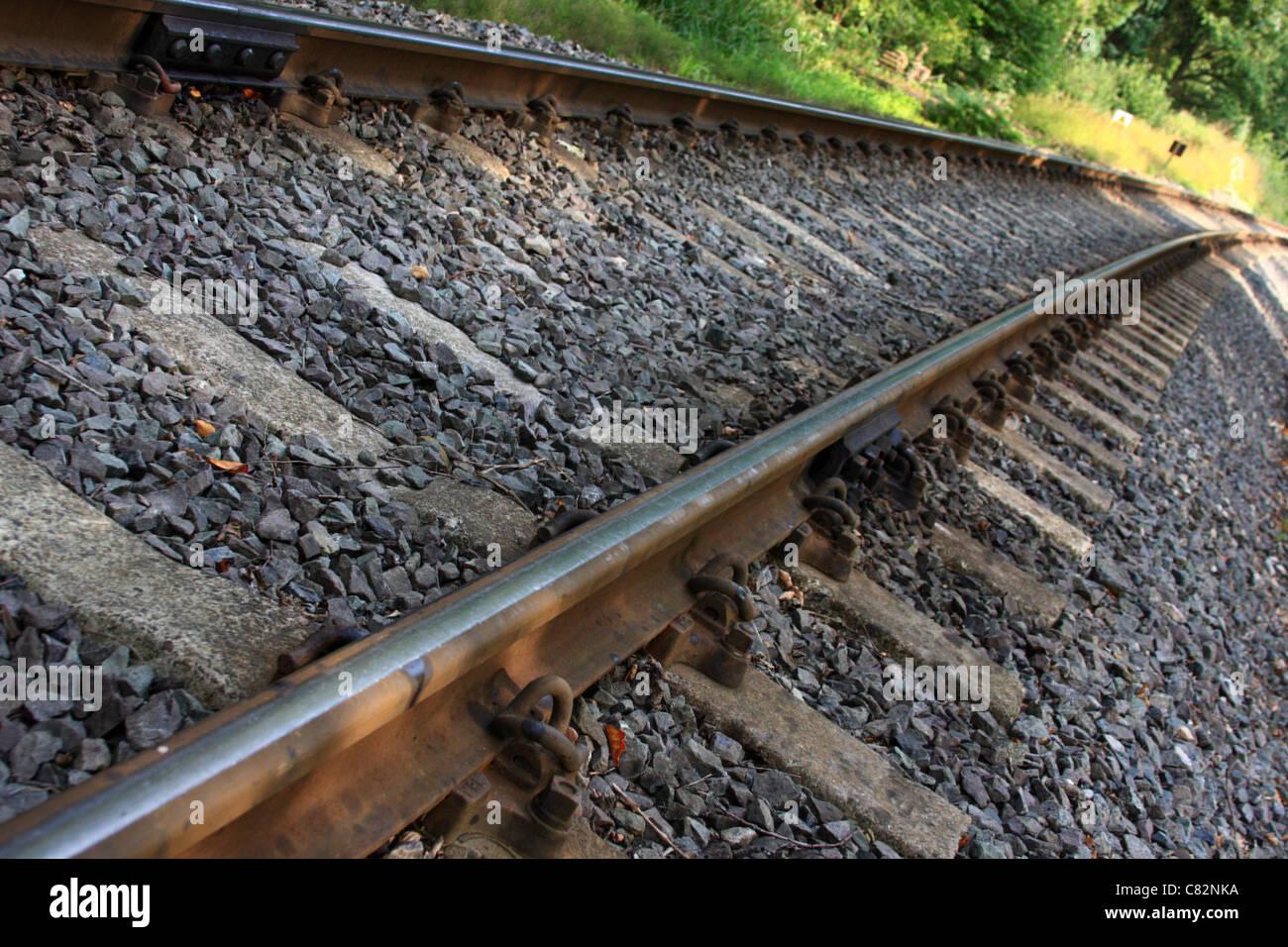 Railway Tracks, England, Europe - Stock Image