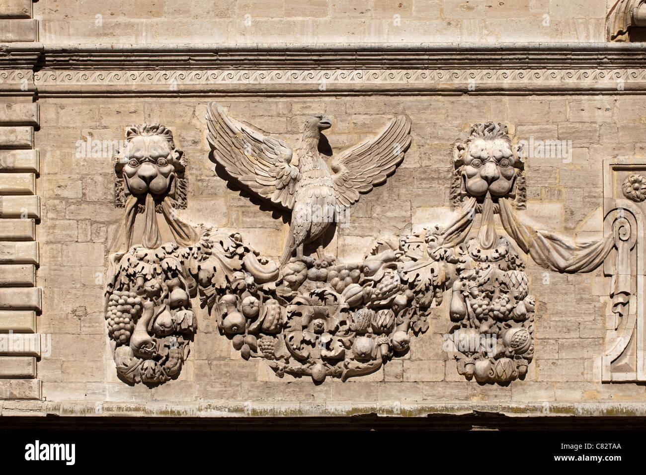 Avignon: Paul V's Coat-of-Arms - Stock Image