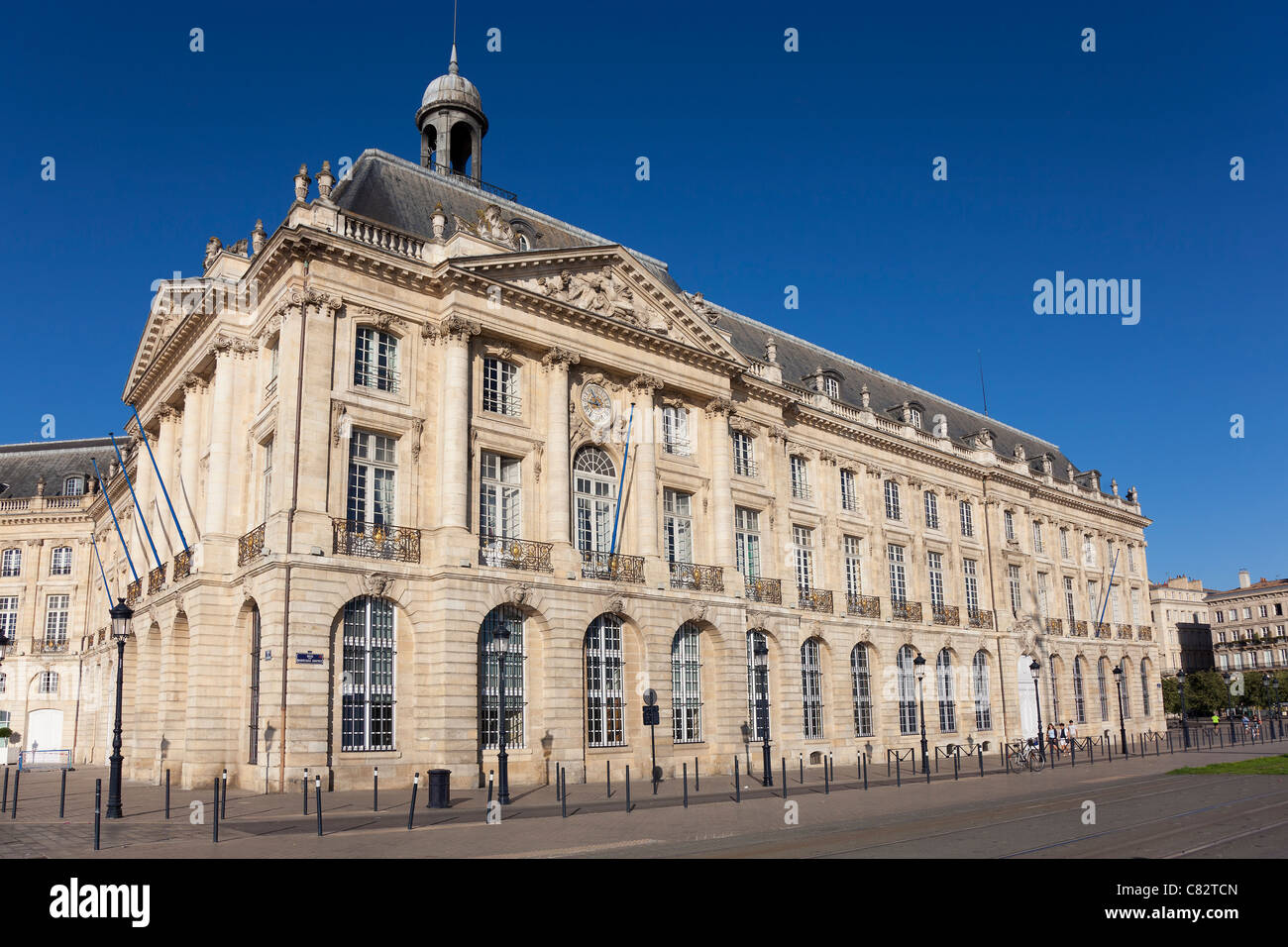 Building in the Square of the Bourse, Aquitaine, France Stock Photo